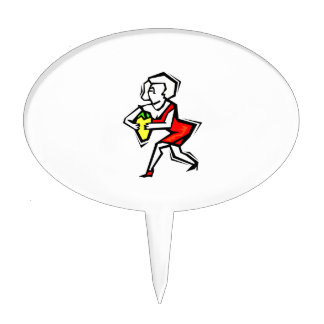Pepper in hand of woman in red dress.png cake topper