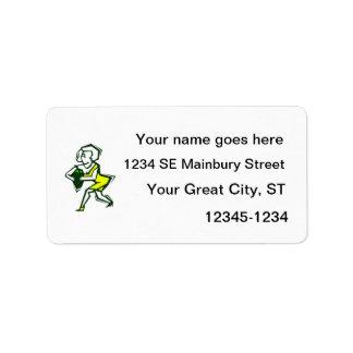 Pepper in hand of yellow woman in dress custom address label