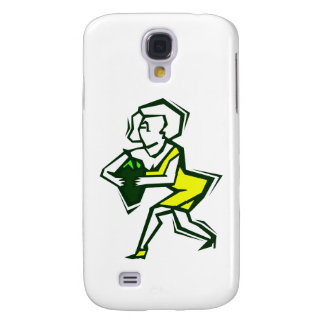Pepper in hand of yellow woman in dress samsung galaxy s4 cover