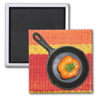 Pepper in Iron Skillet Magnet
