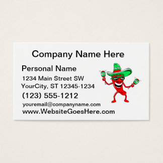 Pepper maracas sombrero sunglasses.png business card