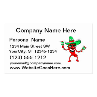 Pepper maracas sombrero sunglasses.png Double-Sided standard business cards (Pack of 100)