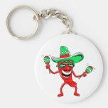 Pepper maracas sombrero sunglasses.png key chain