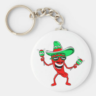 Pepper maracas sombrero sunglasses.png basic round button keychain