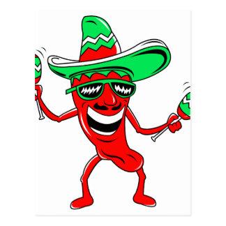 Pepper maracas sombrero sunglasses.png postcard