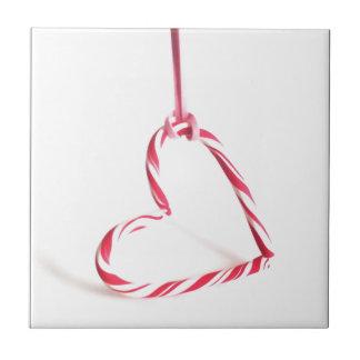 Pepper Mint Heart Ceramic Tile