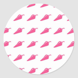 Pepper pattern classic round sticker