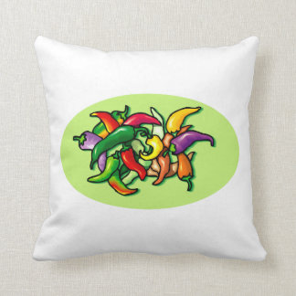 Pepper Pile Graphic Colorful design Pillow