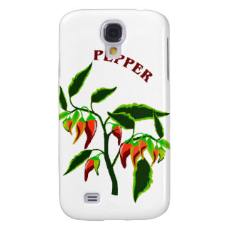 Pepper plant graphic with word pepper samsung galaxy s4 cover