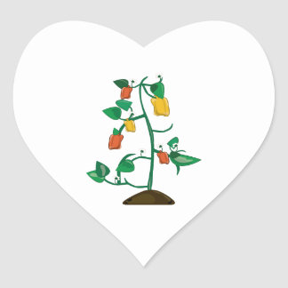 Pepper Plant Heart Stickers