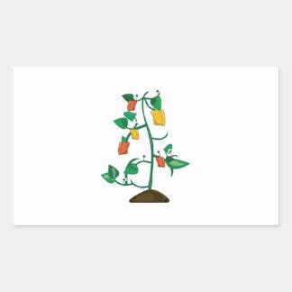 Pepper Plant Rectangular Sticker