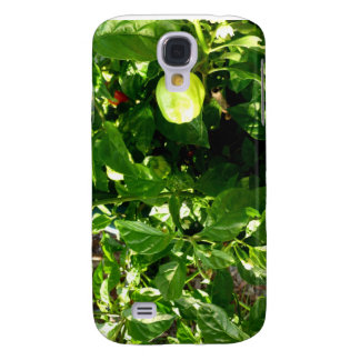 pepper plant with one green pepper samsung s4 case