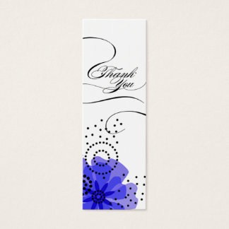 Pepper Poppies Gift Tag blue