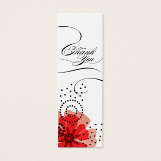 Pepper Poppies Gift Tag red