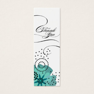 Pepper Poppies Gift Tag teal