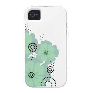 Pepper Poppies mint Vibe iPhone 4 Case