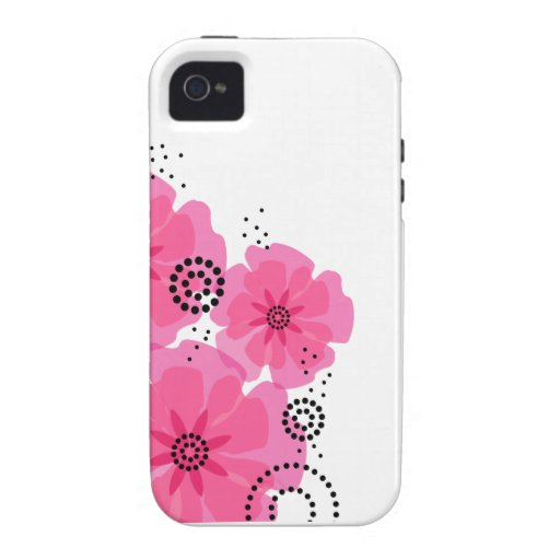 Pepper Poppies pink Case-Mate iPhone 4 Case