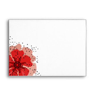 Pepper Poppies red A7 Envelope
