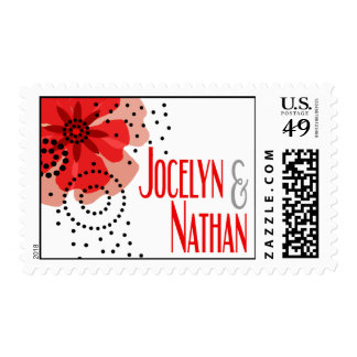 Pepper Poppies - red Stamps