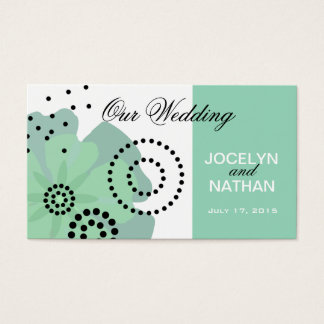 Pepper Poppies Wedding Website mint Business Card