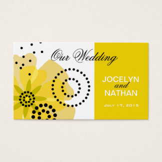 Pepper Poppies Wedding Website yellow Business Card