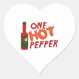 Pepper Sauce Heart Sticker