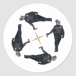 Pepper Spray cop Classic Round Sticker