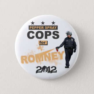Pepper Spray Cops for Romney 2012 Button