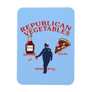 Pepper Spray, Pizza and Ketchup Rectangular Magnet