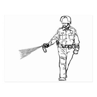 Pepper Spraying Cop Postcard