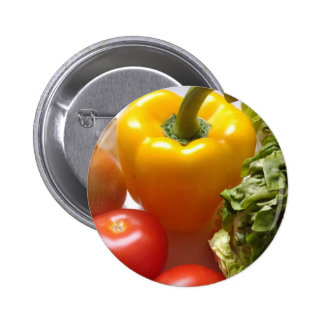 Pepper Tomatoes Vegetables Lettuce Healthy  Food Button