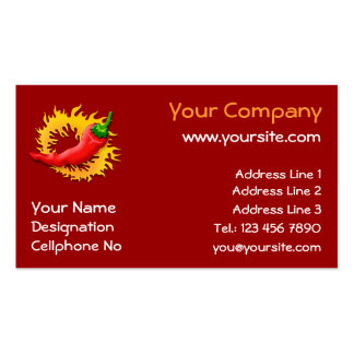 Pepper with flame business card