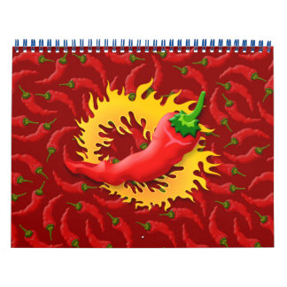 Pepper with flame calendar