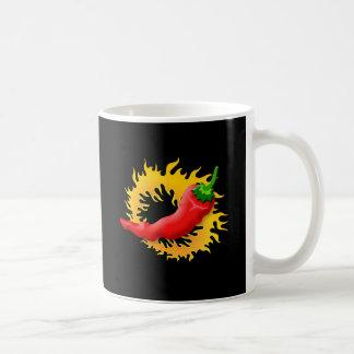 Pepper with flame coffee mug