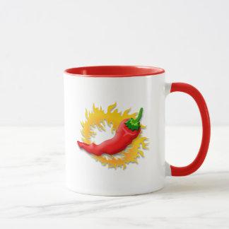 Pepper with flame mug