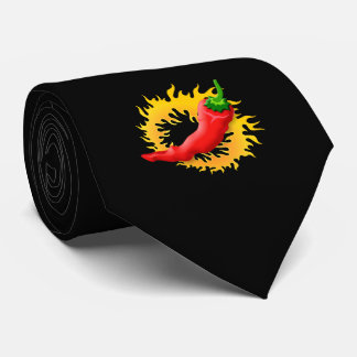 Pepper with flame neck tie