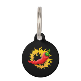 Pepper with flame pet ID tag