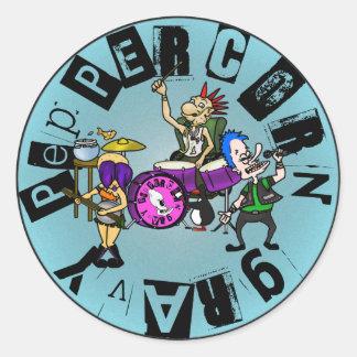 Peppercorn Gravy - Full Band Logo (Blue) Classic Round Sticker