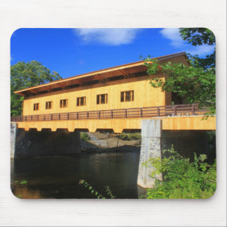 Pepperell MA New Covered Bridge River View Mouse Pad