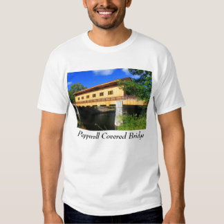 Pepperell MA New Covered Bridge River View T-shirt