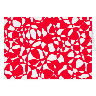 PEPPERMINT ABSTRACT CHRISTMAS CARD