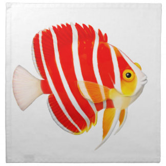 Peppermint Angelfish Coral Reef Napikins Cloth Napkin