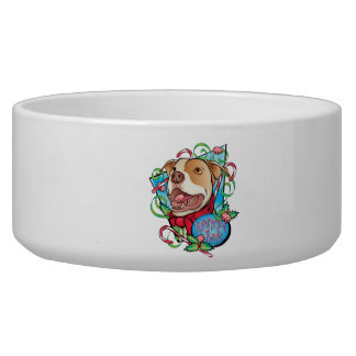 Peppermint Bark Dog Food Bowls