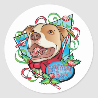 Peppermint Bark Round Stickers