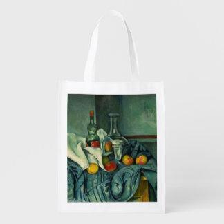 Peppermint Bottle (Paul Cezanne) Grocery Bag