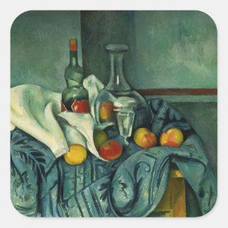 Peppermint Bottle (Paul Cezanne) Square Sticker