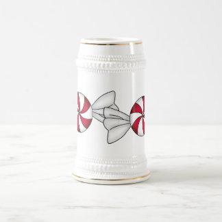 Peppermint Candies 18 Oz Beer Stein