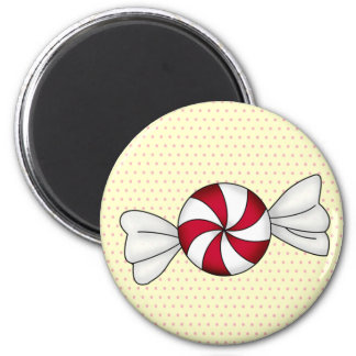 Peppermint Candies 2 Inch Round Magnet
