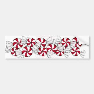 Peppermint Candies Car Bumper Sticker
