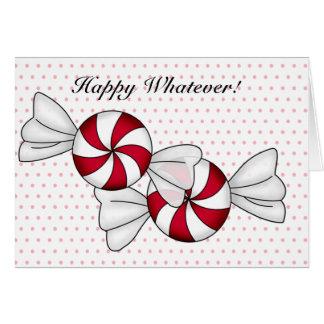 Peppermint Candies Card